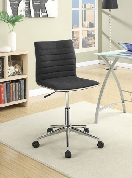 Chrome Black Fabric Metal Adjustable Height Office Chairs CST-800725-VAR