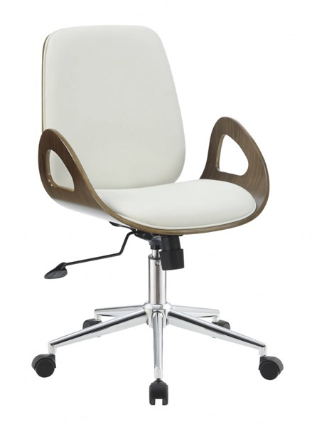 Modern Ecru Leatherette Casters Office Chair CST-800737