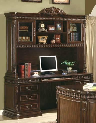 Traditional Walnut Wood Storage Computer Hutch CST-800801H