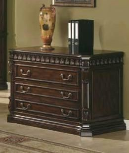 Traditional Brown Wood Drawer File Cabinet CST-800802