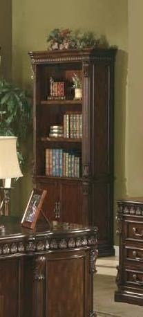 Coaster Furniture Tucker Rich Brown Wood Bookcase with Doors CST-800803