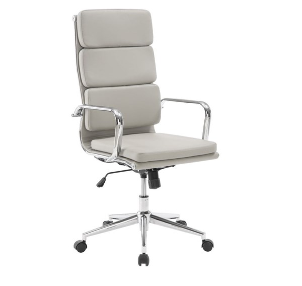 Taupe Faux Leather High Back Office Chair CST-800827