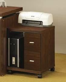 Coaster Furniture Medium Oak 2 Drawers Computer Stand CST-800832
