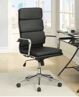 Contemporary Faux Leather Metal Office Chair W/Padded Seat CST-800836-37-VAR