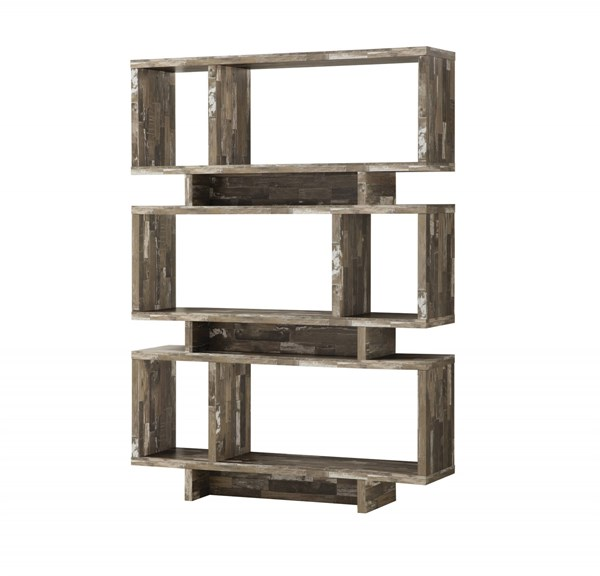 Coaster Furniture Salvaged Cabin Wood Eight Shelves Bookcase CST-800846
