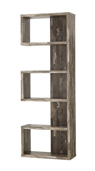 Coaster Furniture Salvaged Cabin Wood Five Shelves Bookcase CST-800847