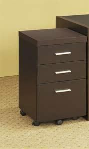 Coaster Furniture Skylar Cappuccino Mobile Storage Cabinet CST-800903