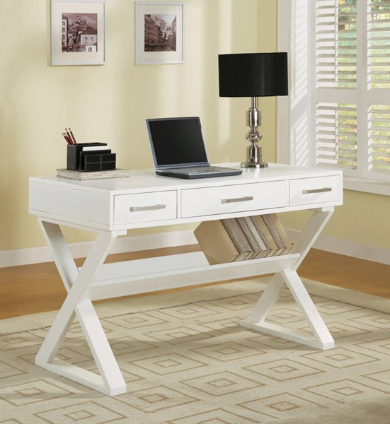 Coaster Furniture White Wood Office Desk CST-800912