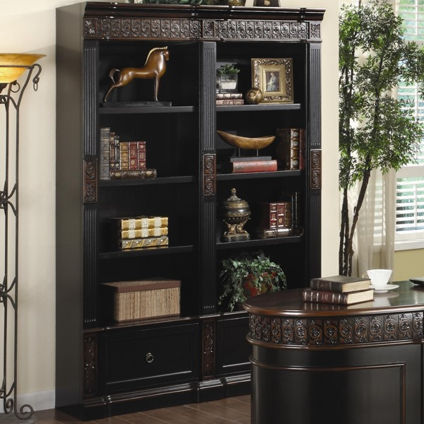 Nicolas Traditional Wood Carved Combination Bookcase CST-800922