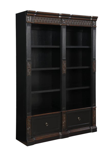 Coaster Furniture Rowan Black Chestnut Double Bookcase CST-800922