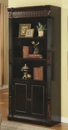 Coaster Furniture Rowan Black Chestnut Wood Bookcase CST-800923