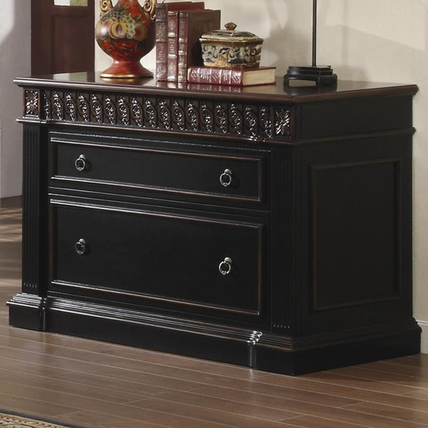 Coaster Furniture Rowan Black Chestnut Wood File Cabinet CST-800924