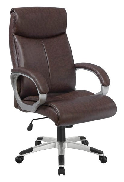 Coaster Furniture Brown Silver Office Chair CST-800937