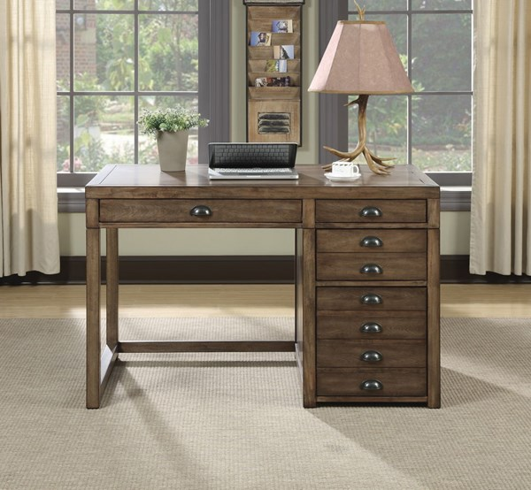 Transitional Taupe Wood Rectangle Writing Desk CST-801098