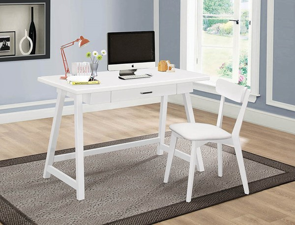 Coaster Furniture White Desk and Chair Set CST-801108
