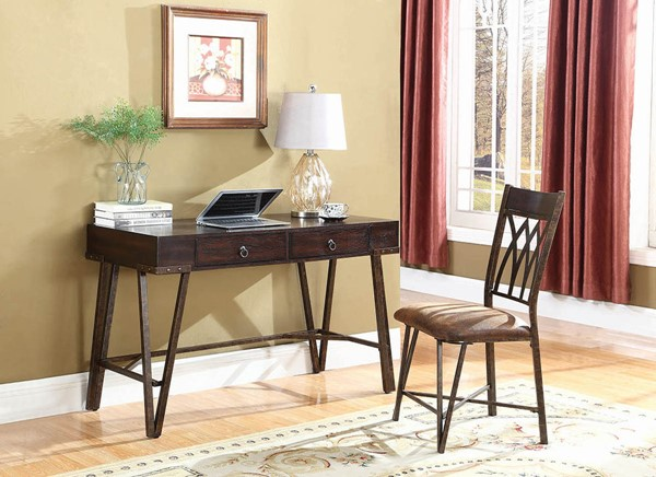 Coaster Furniture Brushed Pecan Desk and Chair Set CST-801126