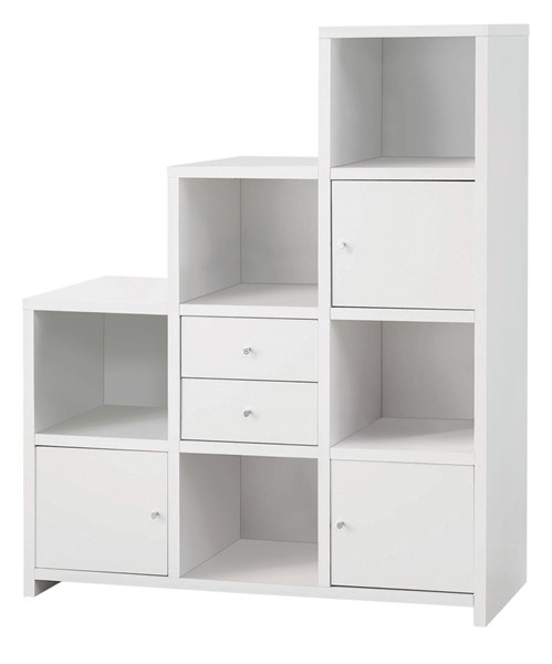Coaster Furniture White Wood Stair Bookcase CST-801169