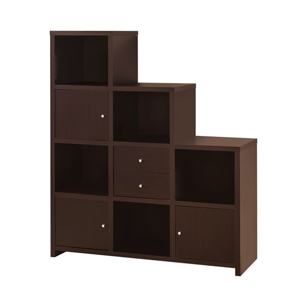 Coaster Furniture Cappuccino Wood Stair Bookcase CST-801170