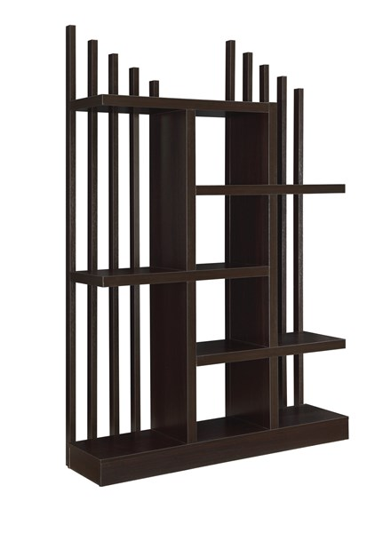 Contemporary Cappuccino Wood Cube Units Bookcase CST-801177