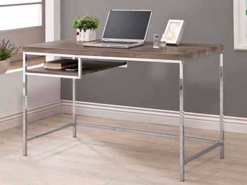 Contemporary Grey Wood Metal Computer Desk CST-801271