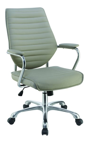 Coaster Furniture Taupe PU Cushion Metal Base Office Chair CST-801328