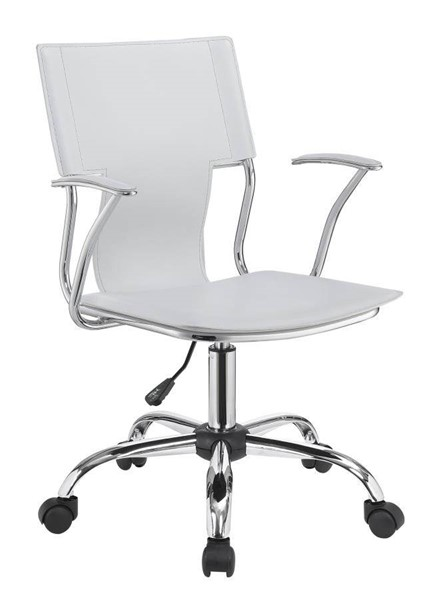 Coaster Furniture White Faux Leather Office Task Chair CST-801363