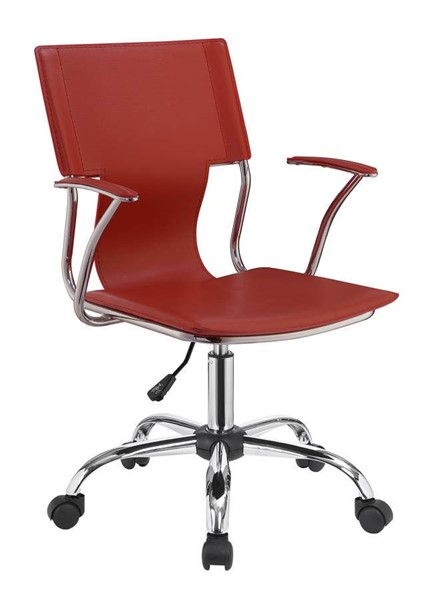 Coaster Furniture Red Faux Leather Office Task Chair CST-801364