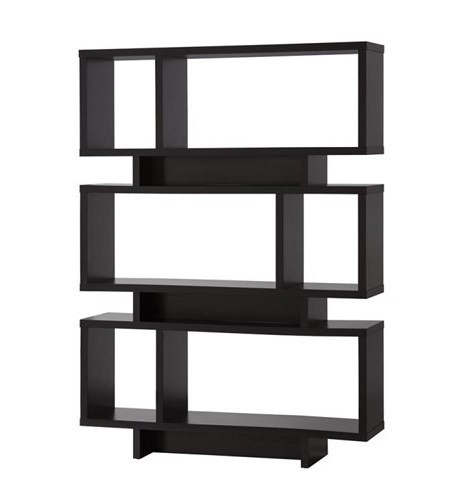Coaster Furniture Cappuccino Wood Shelves Reversible Tall Bookcase CST-801405