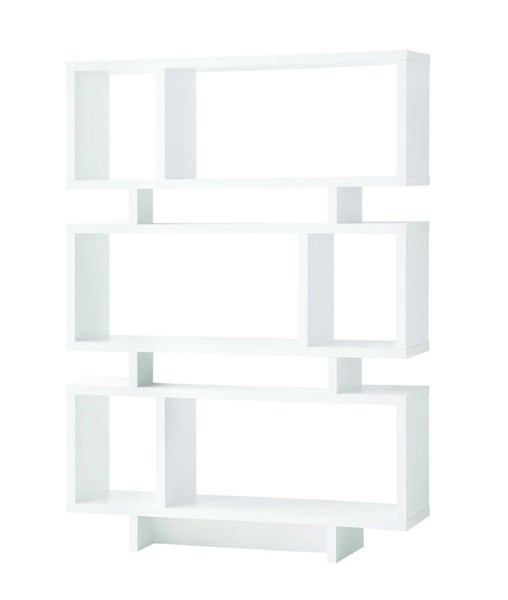 Coaster Furniture White Wood Shelves Reversible Tall Bookcase CST-801406