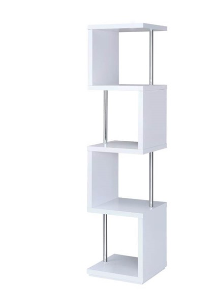 Coaster Furniture White 4 Shelves Bookcase CST-801418