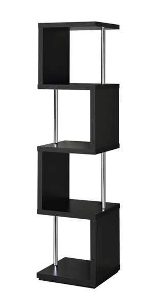 Coaster Furniture Black 4 Shelves Bookcase CST-801419