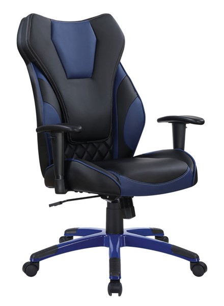 Coaster Furniture Black Blue Faux Leather Office Chair CST-801468