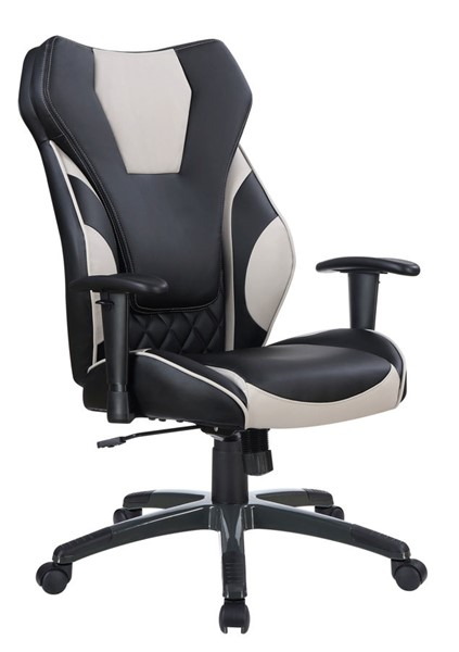 Coaster Furniture Black Grey Faux Leather Office Chair CST-801470