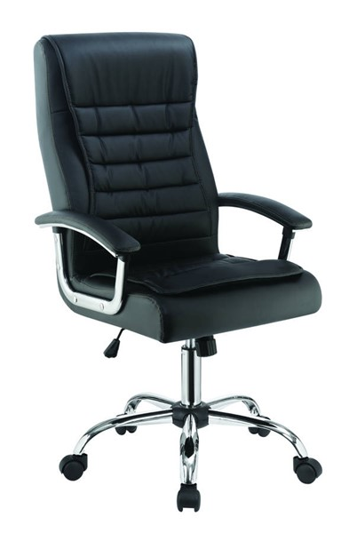 Coaster Furniture Black PU Upholstered Adjustable Height Office Chair CST-801528