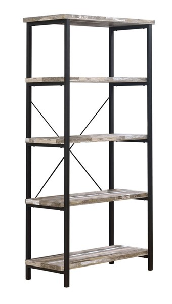 Coaster Furniture Skelton Brown Wood Bookcase CST-801552