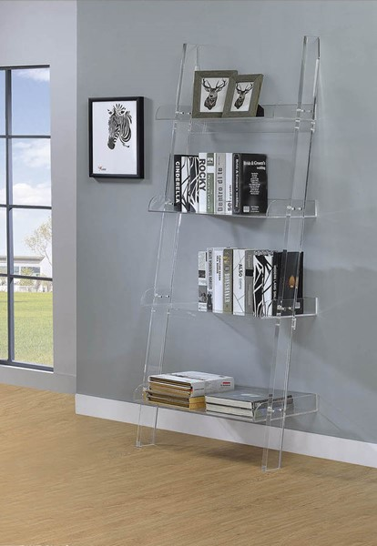Coaster Furniture Amaturo Clear Acrylic Bookcase CST-801553