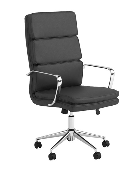 Coaster Furniture Black Faux Leather High Back Office Chair CST-801744