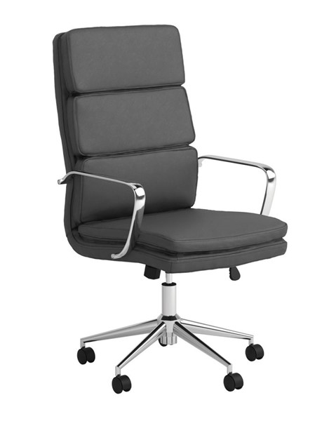 Coaster Furniture Grey Faux Leather High Back Office Chair CST-801745