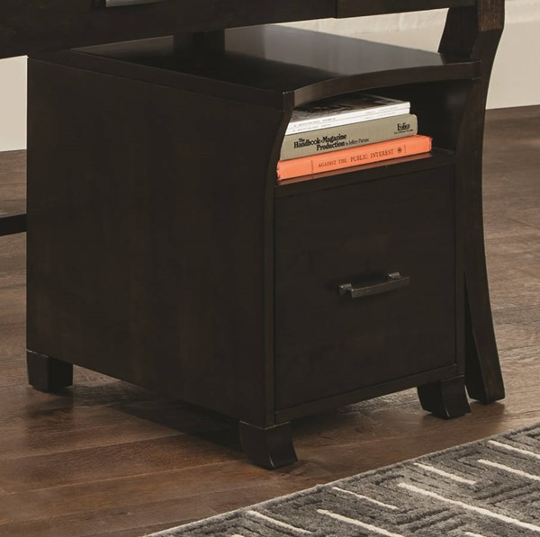 Coaster Furniture Smokey Black File Cabinet CST-801754