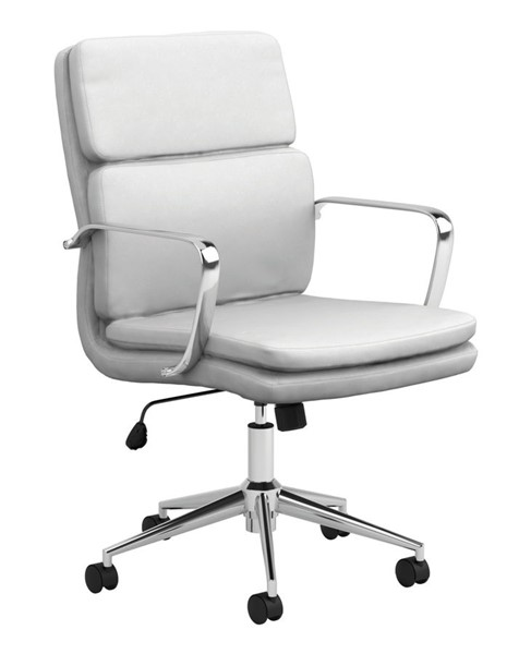 Coaster Furniture White PU Office Chair CST-801767