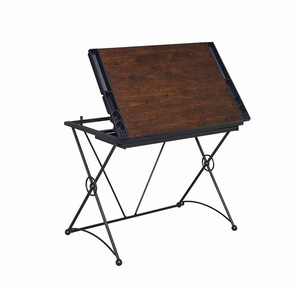 Coaster Furniture Black Metal Drafting Desk CST-801857