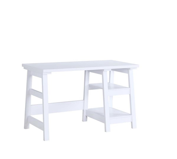 Coaster Furniture White Wood Writing Desk CST-801873