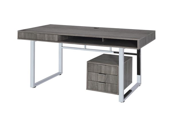 Coaster Furniture Weathered Grey MDF Writing Desk CST-801897