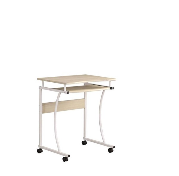 Coaster Furniture Natural White MDF Computer Desk CST-801938