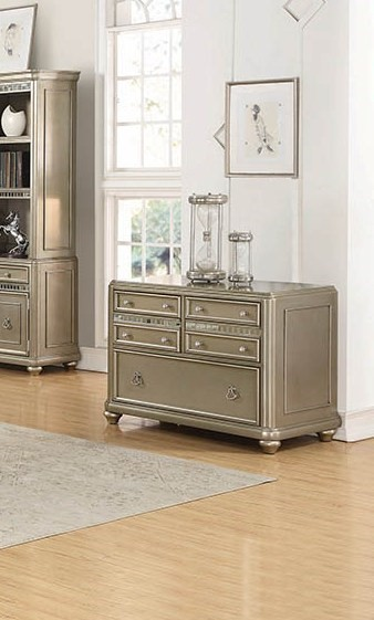 Coaster Furniture Ritzville Metallic Platinum File Cabinet CST-801972