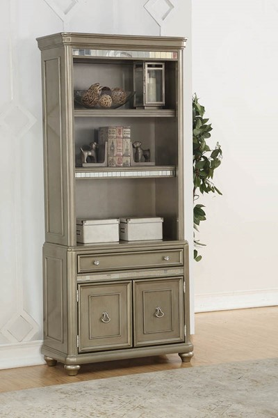 Coaster Furniture Ritzville Metallic Platinum Wood Bookcase CST-801973