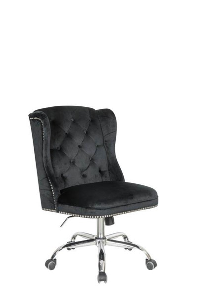 Coaster Furniture Black Velvet Office Chair CST-801995