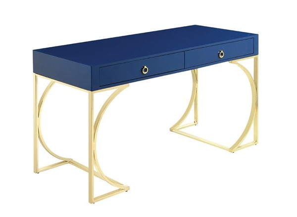 Coaster Furniture Odessa Glossy Blue Writing Desk CST-802071