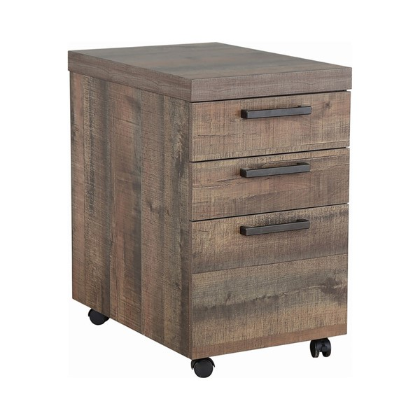 Coaster Furniture Luke Weathered Oak Mobile Cabinet CST-802084