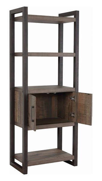Coaster Furniture Luke Weathered Oak 70 Inch Storage Bookcase CST-802085